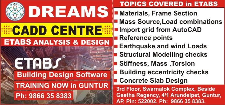 Etabs Course In Guntur Etabs Training In Guntur Etabs Online Training